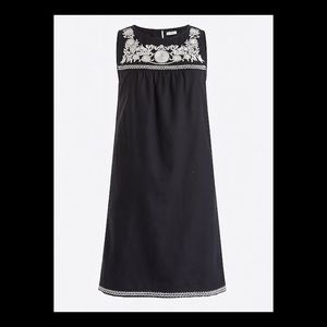 J.Crew Black & White Embroidered Tunic Dress
